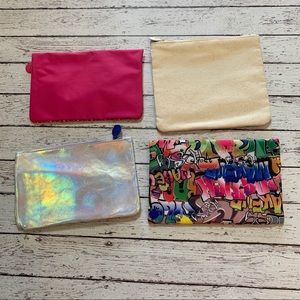 ipsy Bags - Set of 4 makeup cosmetic bags 💄 Ipsy